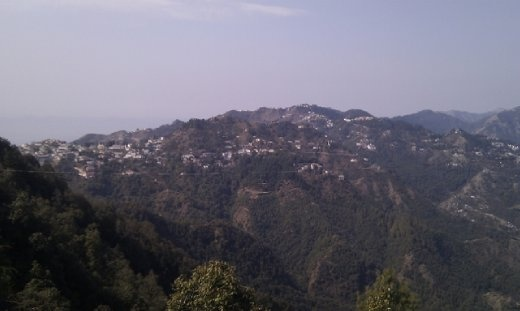 View of Mussoorie from Lal Tibba