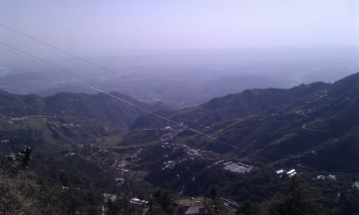 A mist covered view of Dehradun valley