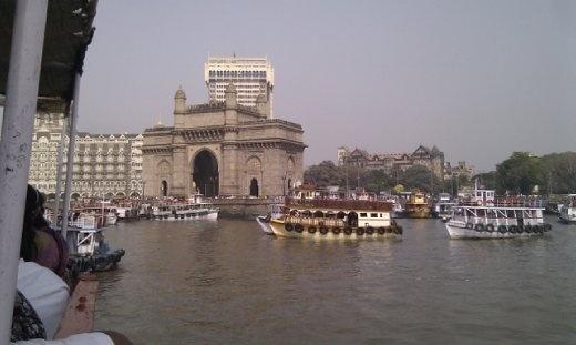 Gateway of India on the way to Elephanta Island
