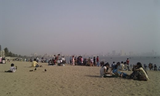 The locals at Chowpatty beach