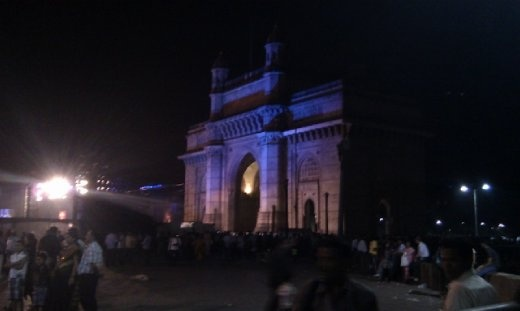 The gateway at night