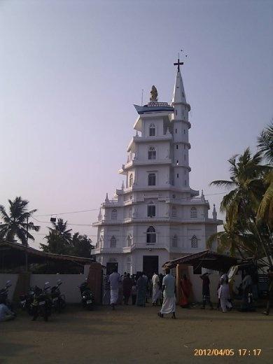 A church near Kovalam harbour