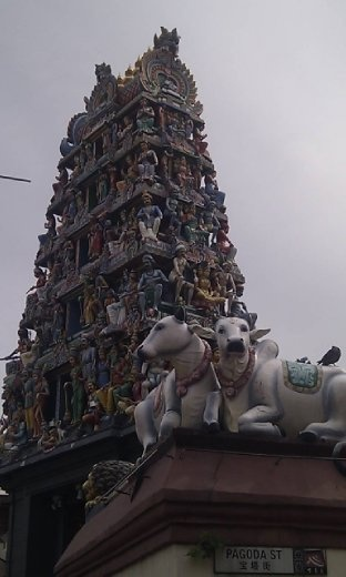 Roof of Sri Mariamman Temple