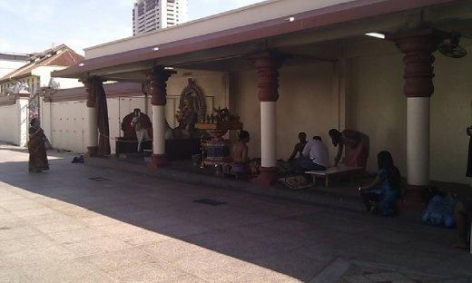 Scene at Sri Mariamman Temple