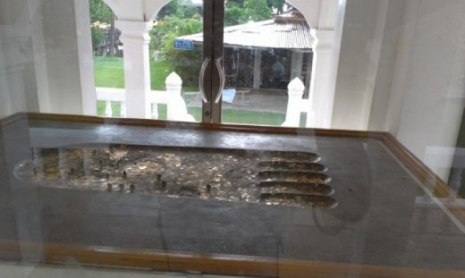 Buddha footprint at Wat Trapang Thong Lang
