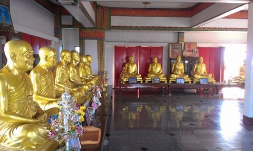 Statues of famous monks