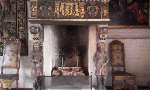 Fireplace in Akershus banquet hall