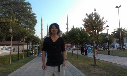 Me with Blue Mosque horns