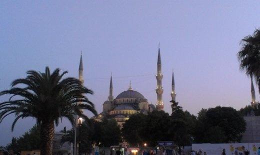 Blu Mosque evening