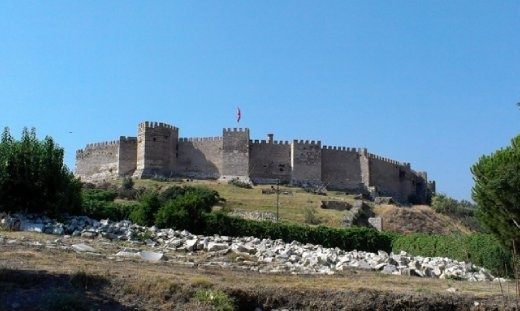 View of Selcuk castle from St.John's Basilica