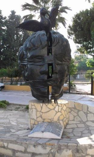 Peace sculpture near Ephesus museum