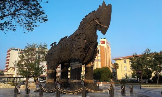 Trojan horse donated by Mr Pitt