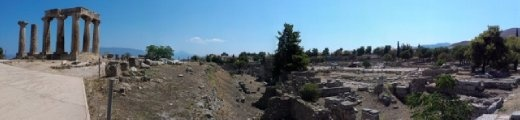 Panoramic view with Temple of Apollo