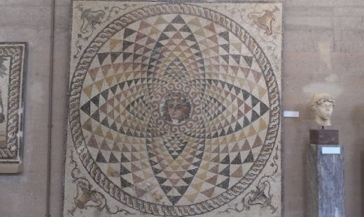 Recovered mosaic at Corinth Museum