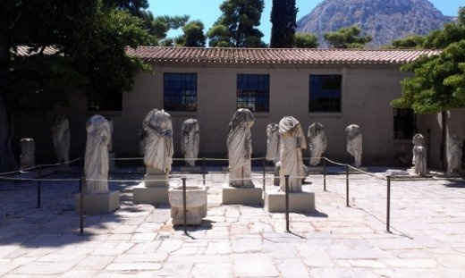 Recovered statues at Corinth Museum