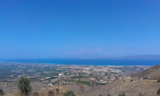 View on the way up to Acrocorinth