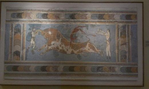 Bull leaping fresco
