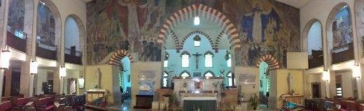 Semi-circular rear of mosque