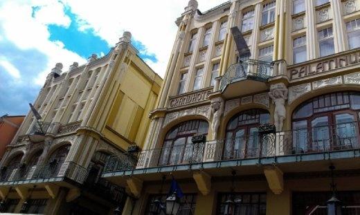 The art nouveau Hotel Palatinus