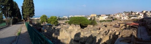 Panoramic view of Herculaneum