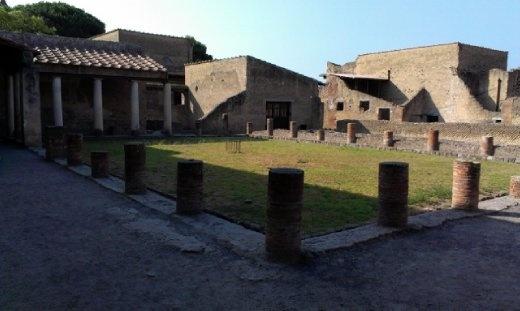 Men's Baths - courtyard