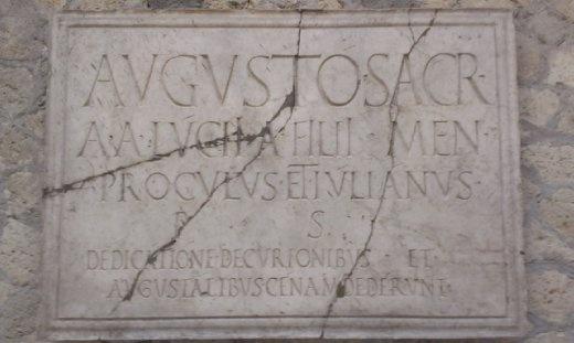 Dedication to Emporer Augustus