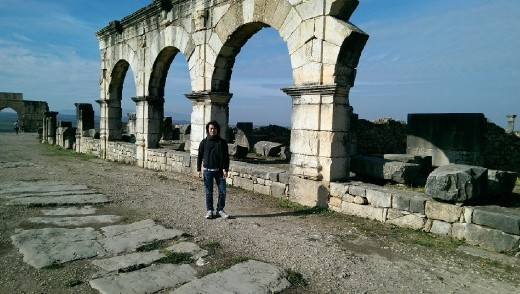 Me standing in front of an aquaduct