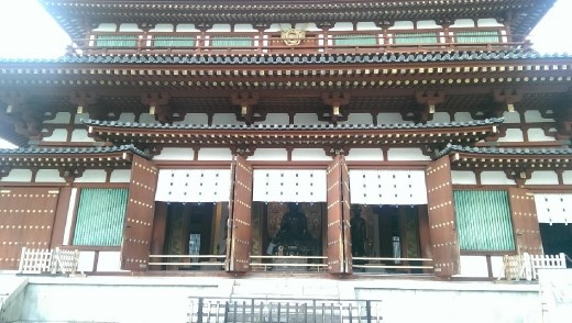 Yakushiji Temple - The Daikodo from the exit
