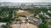 Another view from the top. Himeji Station is at the end of the big long straight road.: by macedonboy, Views[183]