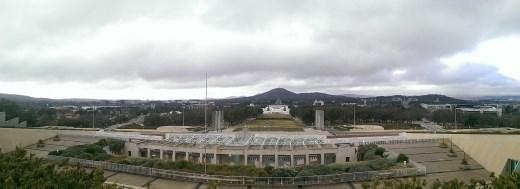 Australian Parliament - View of ANZAC Parade