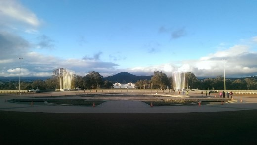 View of ANZAC Parade from Australian Parliament