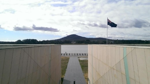 View of ANZAC Parade - View from Reconcilation Place