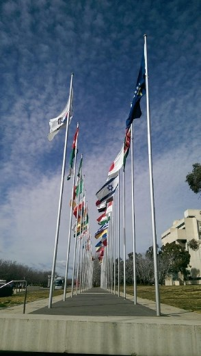 Flags at Reconcilation Place