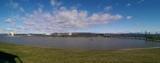 View of parliament from across Lake Burley Griffen