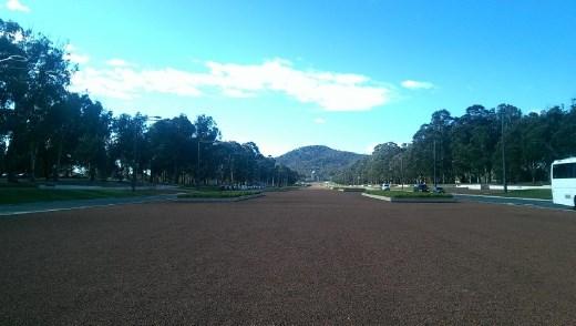 A long way of from the Australian War Memorial on ANZAC Parade