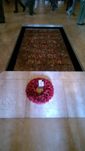 Inside the tomb of soldiers