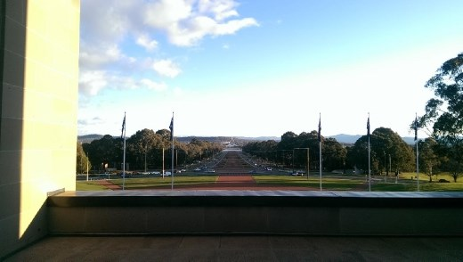 View of ANZAC Parade from memorial