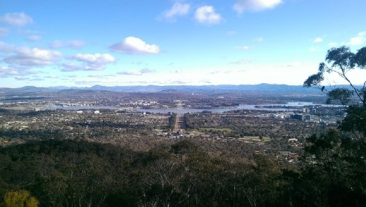 View of Canberra from Mt. Ainslie