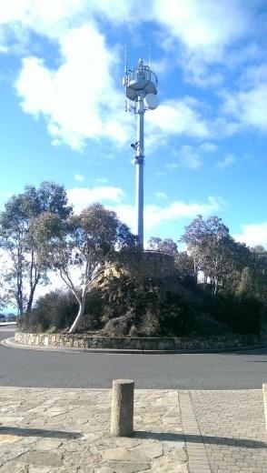 Telecommunications mast up Mt. Ainslie