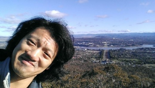 Mini me atop Mt. Ainslie