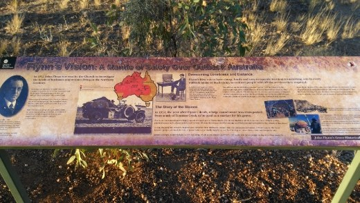Description of John Flynn Monument