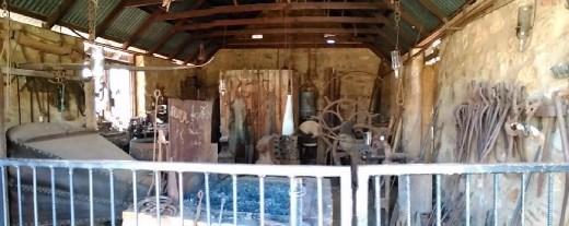 Blacksmith workshop at the Telegraph Station