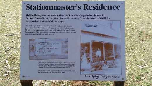 Description of Station Masters house at the Telegraph Station