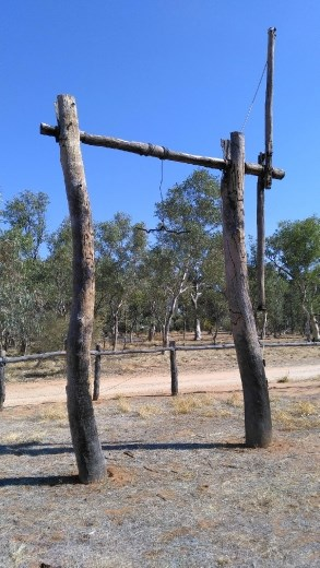 The Gallows at the Telegraph Station