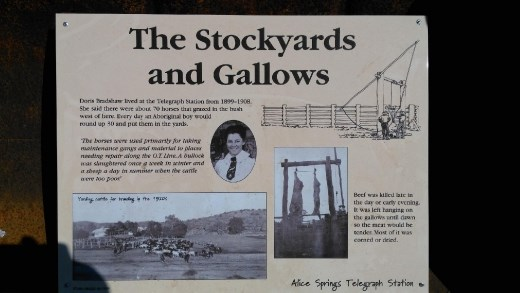 Description of the gallows at the Telegraph Station