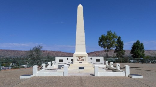 Lest We Forget monument at ANZAC HIll