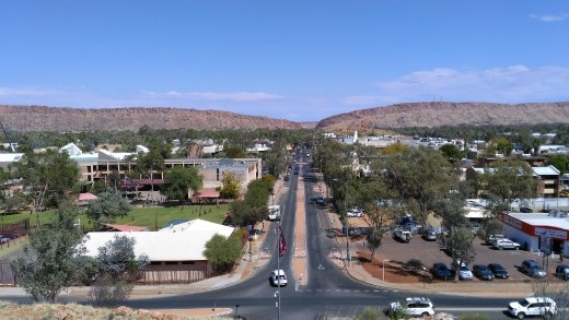 View of Alic Springs from Lions Walk