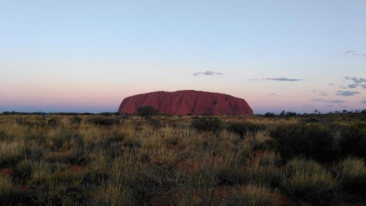 Towards sunset at Uluru