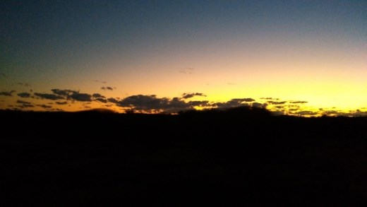 Sunset in Uluru