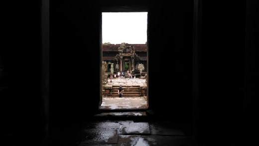Almost into Angkor Wat